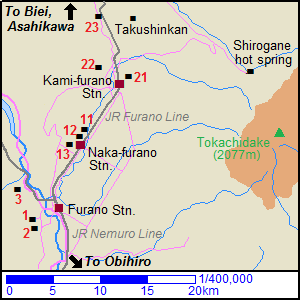 Map around Furano