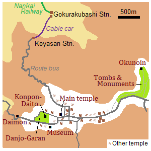 Map of Koyasan