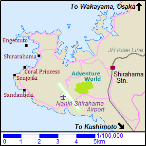 Map of Shirahama
