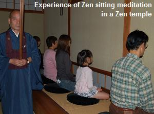 Experience of Zen sitting meditation in a Zen temple