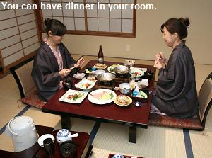 You can have dinner in your room.