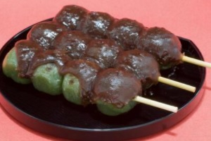 Botchan Dango in Matsuyama city