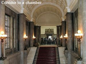 Corridor to a chamber