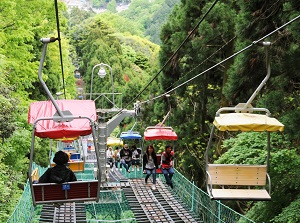 The cable car of Mount Takao