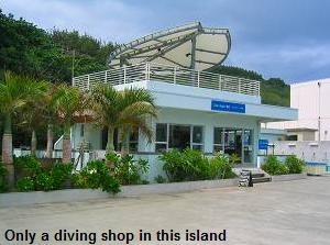 Only a diving shop in this island