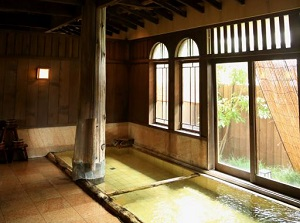 Bathroom in a hotel in Isawa Onsen