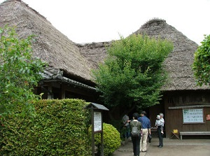 An entrance of a samurai residence
